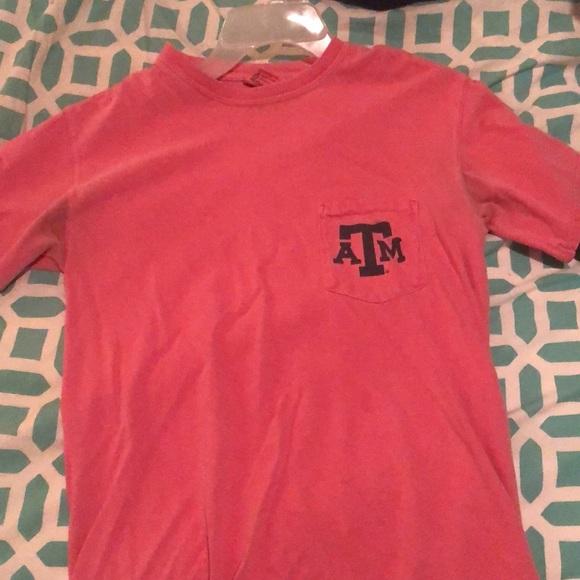 Comfort Colors Tops - Coral comfort colors Texas A&M T-shirt